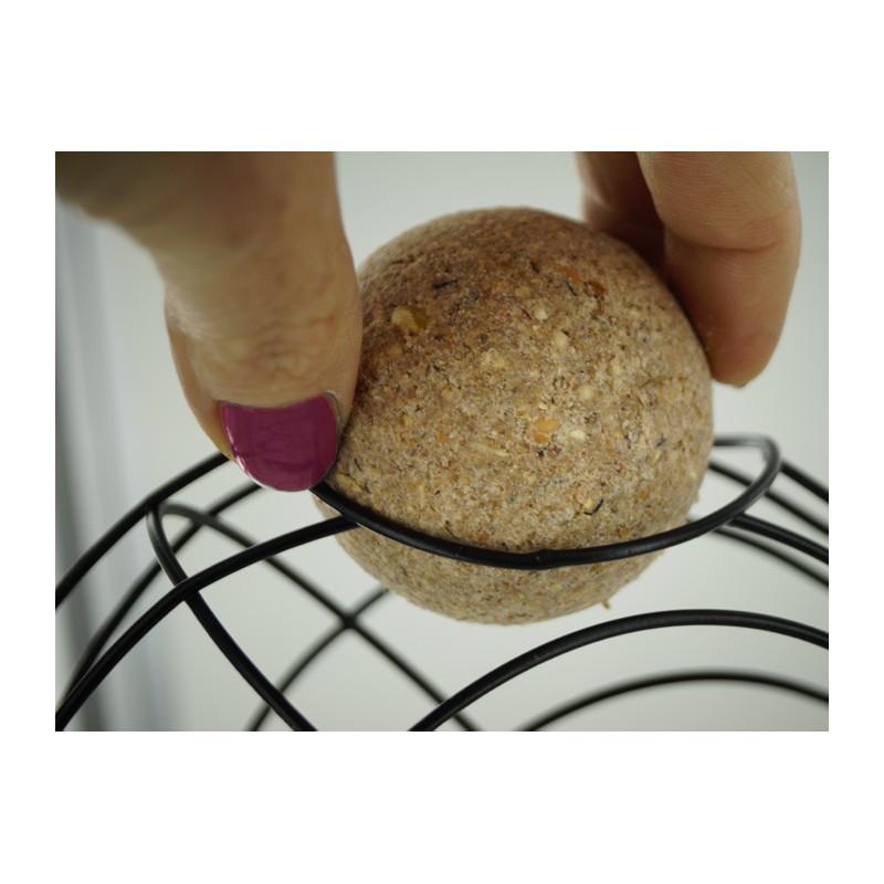 Couronne en coeur pour boules de graisse - Boule de graisse oiseau ...