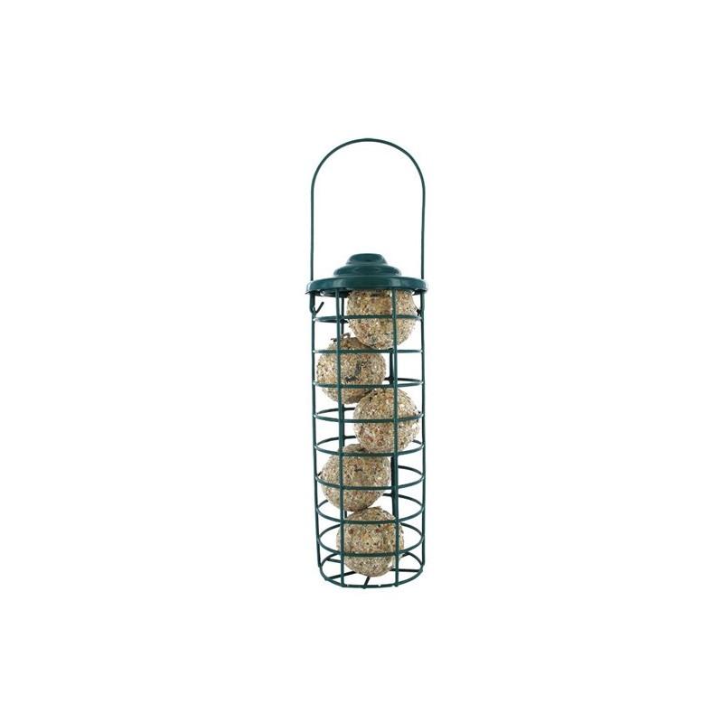 Mangeoire tube pour cylindres et boules de graisse pour - Boules de graisse pour oiseaux ...
