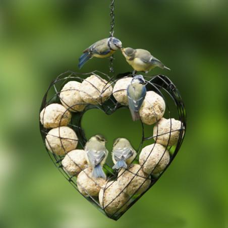 """Coeur """"Valentine""""  pour boules de graisse Natures Market -Oisillon.net-"""