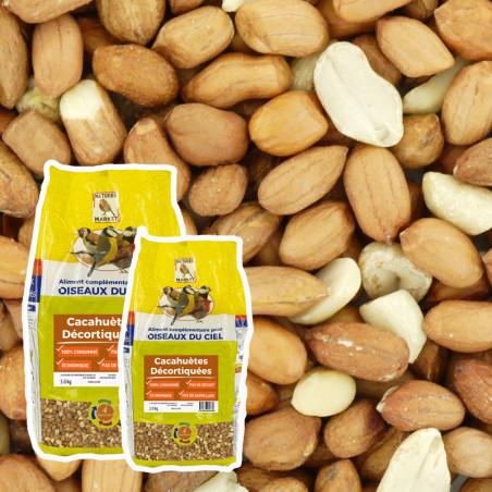 Cacahuètes décortiquées pour oiseaux du ciel Natures Market -Oisillon.net-