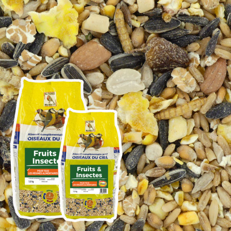 Mélange de graines pour oiseaux Fruits et Insectes Natures Market -Oisillon.net-