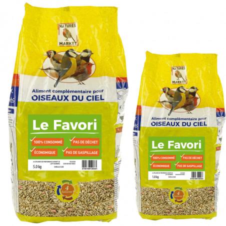 Mélange de graines Le Favori pour oiseaux Natures Market -Oisillon.net-