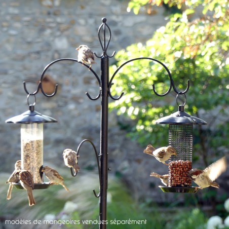 Poteau + mangeoires pour oiseaux Natures Market -Oisillon.net-