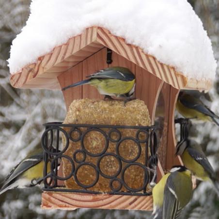 Mangeoire Gourmet pour oiseaux graines et graisses Natures Market -Oisillon.net- fabriquée en France