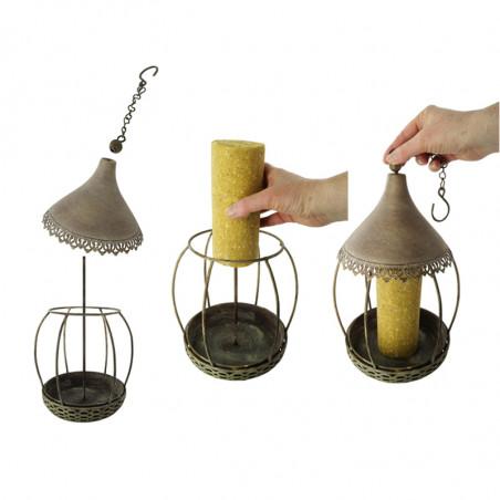 Mangeoire Carrousel pour cylindre de graisse et pour graines Natures Market -Oisillon.net-