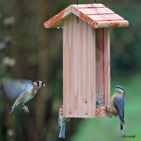 Mangeoire pour oiseaux Le Grenier : pour graines,  Natures Market - Oisillon.net - Fabriquée en France