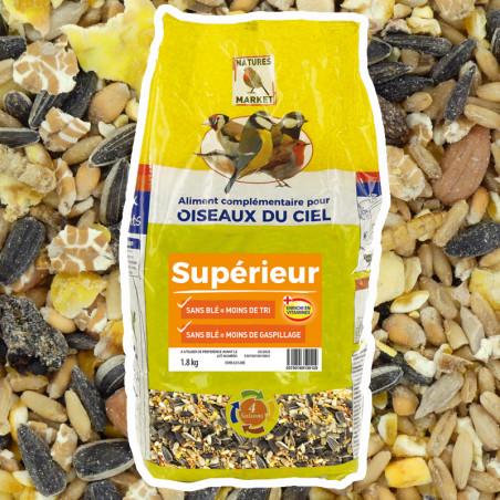 Kit mangeoire Gourmet avec graines et repas. Natures Market -Oisillon.net-
