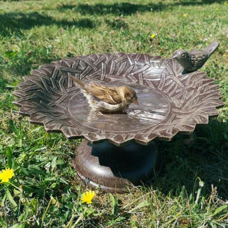 Abreuvoir métal pour oiseaux et insectes Natures Market -Oisillon.net-