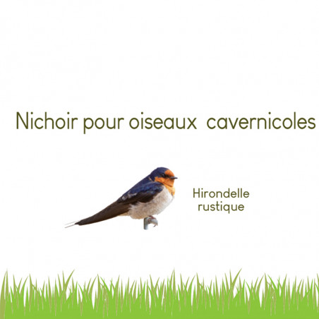 Nichoir Nid hirondelles rustiques Méridia -Natures Market- Nature Market Nichoirs